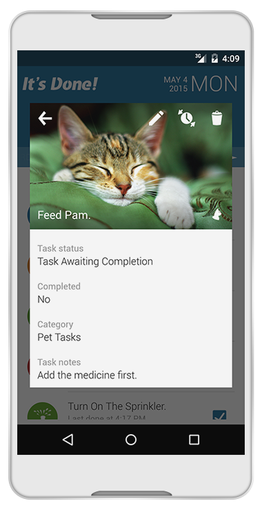 It's Done! for Android offers advanced repetition options, task list backups and task photo functionality.